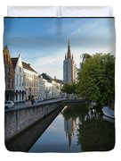 Church Of Our Lady Reflection Duvet Cover