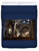 Church Of The Assumption Of Mary In Bossost Duvet Cover