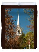 Church Of The Redeemer  From The Lexington Battlefield Duvet Cover