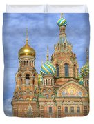 Church Of The Saviour On Spilled Blood. St. Petersburg. Russia Duvet Cover