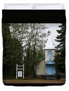 Church On Alaskan Highway Duvet Cover