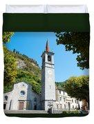 Church On Main Square, Varenna, Lake Duvet Cover