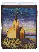 Church On The Rocks.  Duvet Cover