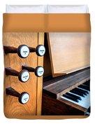 Church Organ Keyboard Duvet Cover
