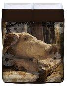 Church Pig Duvet Cover