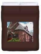 Church Red Door Duvet Cover