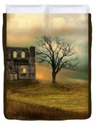 Church Ruin With Stormy Skies Duvet Cover