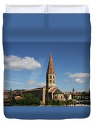 Church Saint Marcel - Cluny Duvet Cover