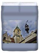 Church Steeple - Bratislava Slovakia Duvet Cover