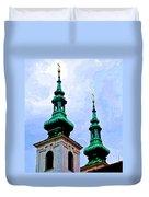 Church Steeples - Bratislava Duvet Cover