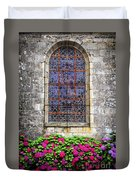 Church Window In Brittany Duvet Cover