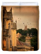 Churches In Town Duvet Cover