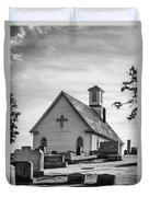 Churchyard Bw Duvet Cover
