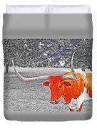 Cibolo Longhorn Duvet Cover