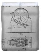 Cider Mill Patent Drawing Duvet Cover