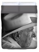 Cigar Maker Remembering His Past Duvet Cover by Rene Triay Photography