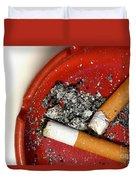 Cigarette Butts Duvet Cover