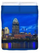 Cincinnati At Sunset Duvet Cover