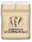 Cincinnati Bengals Logo Vintage Duvet Cover