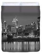 Cincinnati Black And White Night Duvet Cover