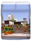 Cincinnati Downtown Central Business District Duvet Cover by Paul Velgos