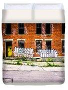 Cincinnati Glencoe Auburn Place Graffiti Photo Duvet Cover