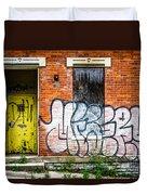 Cincinnati Glencoe Auburn Place Graffiti Picture Duvet Cover