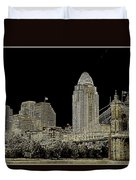 The Queen City Cincinnati Ohio Duvet Cover