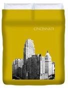 Cincinnati Skyline 2 - Gold Duvet Cover