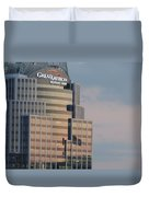 Cincinnati Skyline At Sunset Form The Top Of Mount Adams 3 Duvet Cover