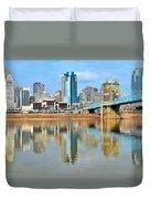 Cincinnati Skyline Reflects Duvet Cover