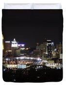 Cincinnati With The Moon 2 Duvet Cover