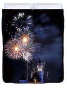 Cinderella Castle Fireworks Iconic Fairy-tale Fortress Fantasyland Duvet Cover