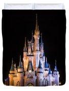 Cinderella's Castle In Magic Kingdom Duvet Cover