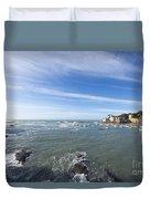 Cinque Terre And The Sea Duvet Cover