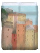 Cinque Terre Duvet Cover by Steve Mitchell