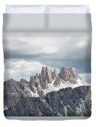 Cinque Torri Area In The Dolomites Duvet Cover