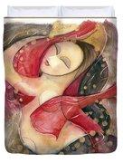 Circle Dancer Duvet Cover by Jen Norton