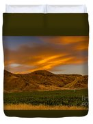 Circle Of Corn At Sunrise Duvet Cover