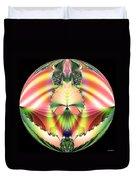 Circle Of Rainbows Duvet Cover