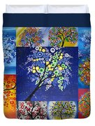 Circle Tree Collage Duvet Cover