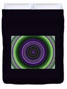 Circular Concentric Stripes In Multiple Colors Duvet Cover