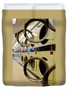Circular Doors On Laundromat Washing Machines Duvet Cover