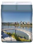Circular Walkway On Portland Eastbank Esplanade Duvet Cover