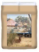 circus circus 2 - A vintage circus wagon with african paint and llama camel  Duvet Cover