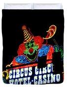 Circus Circus Sign Vegas Duvet Cover