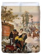 Circus Star Kidnapped Wilhio S Poster For De Dion Bouton Cars Duvet Cover