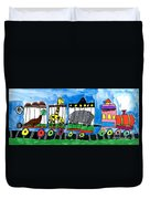 Circus Train Duvet Cover by Max Kaderabek Age Eight