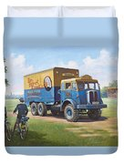 Circus Truck Duvet Cover by Mike  Jeffries