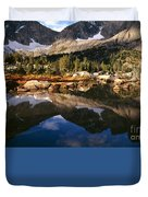 Cirque Of The Towers In Lonesome Lake 2 Duvet Cover